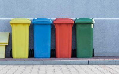 coloured bins