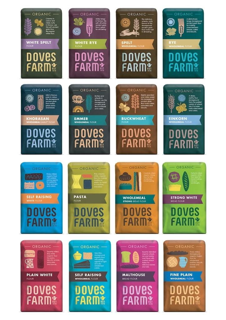 Doves Farm rebrand