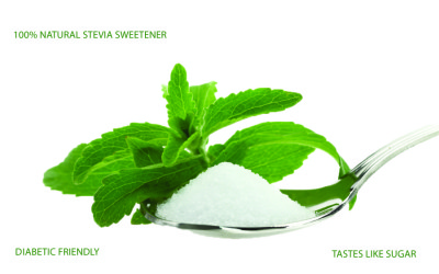 Sweetly Stevia Leaf and Spoon