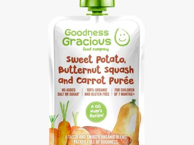 Goodness Gracious Sweet Potato, Butternut Squash & Carrot Puree