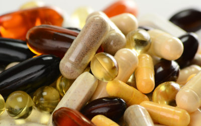 Composition with dietary supplement tablets