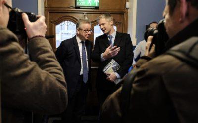 Michael Gove MP and Zac Goldsmith MP pre-session