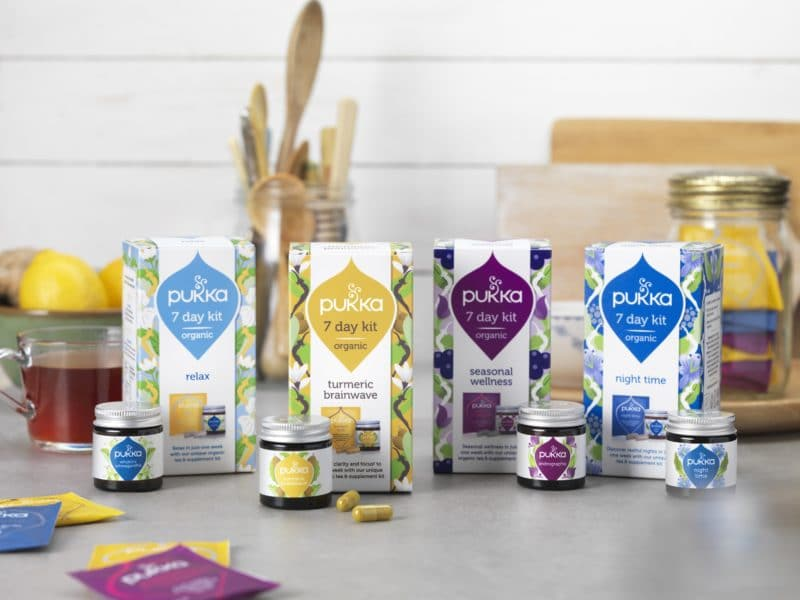 pukka spring 18 wellbeing kit range with sachets