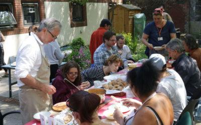 Lunch in St. Ms Garden 1
