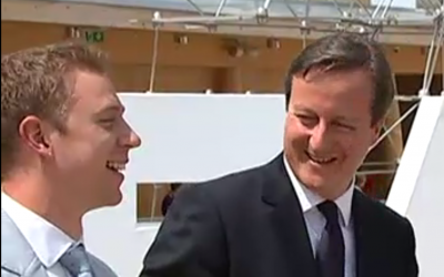 David Cameron with Charlie Thuillier