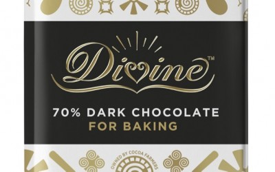 Divine 70% Dark Chocolate baking bar 200g smaller (1)
