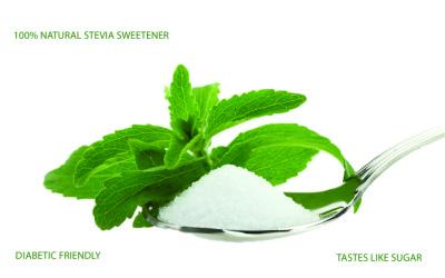 Sweetly Stevia Leaf and Spoon